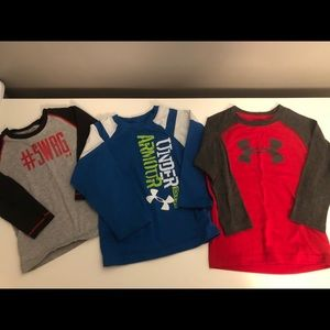 Bundle 3 Under Armour long sleeved tees sz 2T